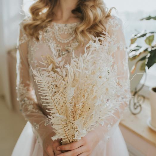 Букен невесты из сухоцветов