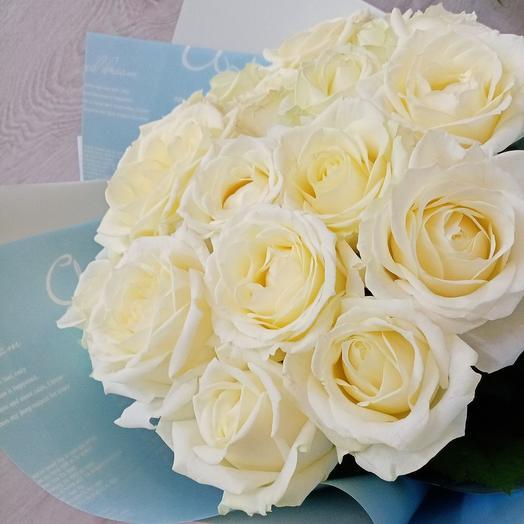 Букет 17 белых роз