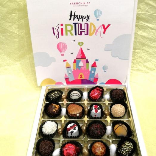Набор конфет ручной работы FRENCH KISS SPB 10/3 С днем рожденья 1