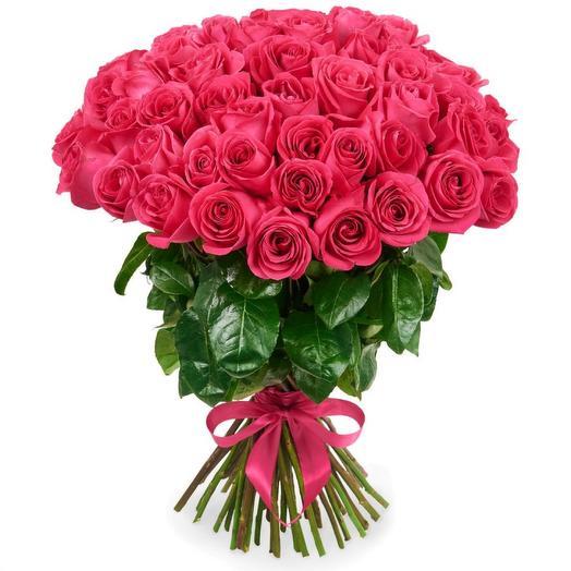 Букет из 51 розовой розы (50см)