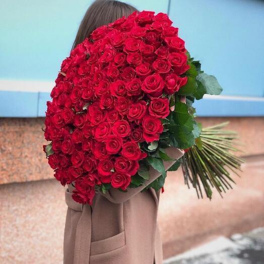 Букет роз 101 Эквадор