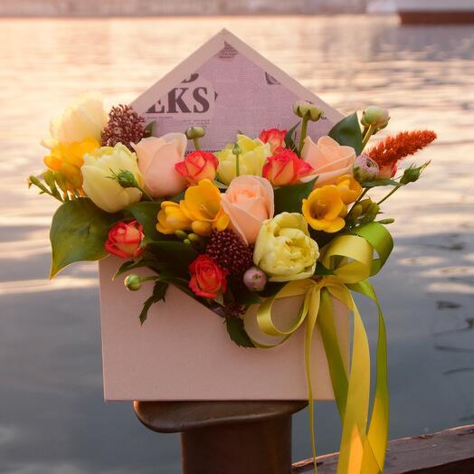 Цветы в конверте Превосходство