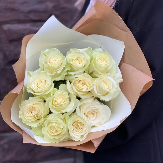 Монобукет из роз «Жизель»