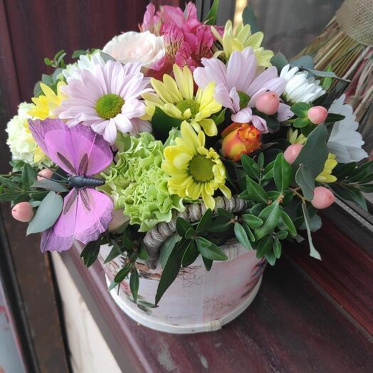 Цветы,в коробочке