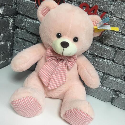 Мишка  с розовым бантиком