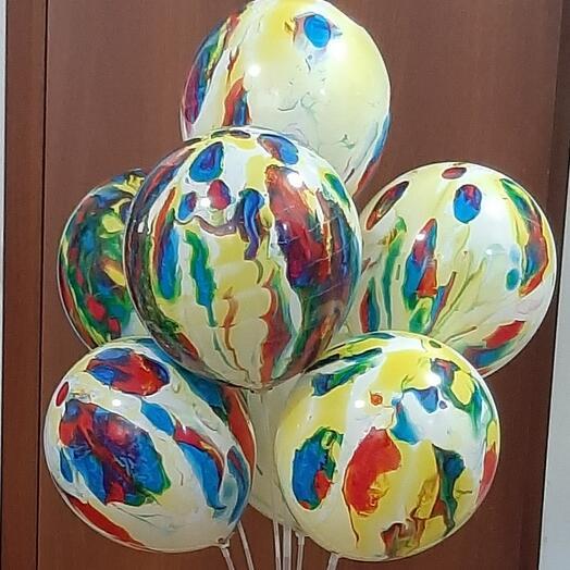 Гелиевые шары разноцветные 7 шт