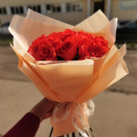 Оранжевые розы кения