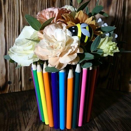 Композиция школьная: букеты цветов на заказ Flowwow