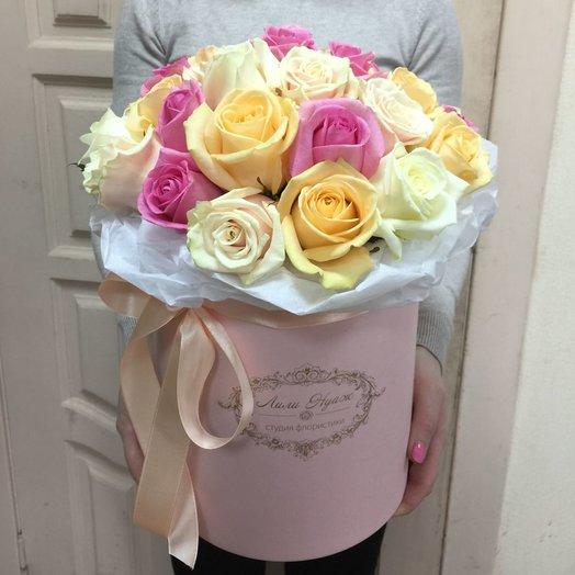 Кружево в шляпной коробке!: букеты цветов на заказ Flowwow