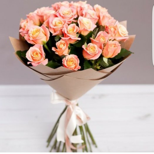 Персиковый бриз: букеты цветов на заказ Flowwow