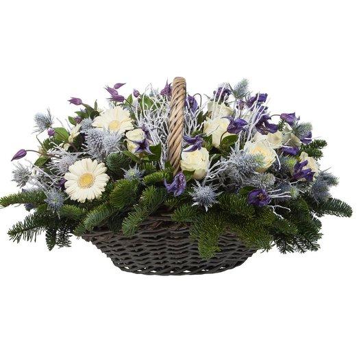 Корзина Северная королева: букеты цветов на заказ Flowwow
