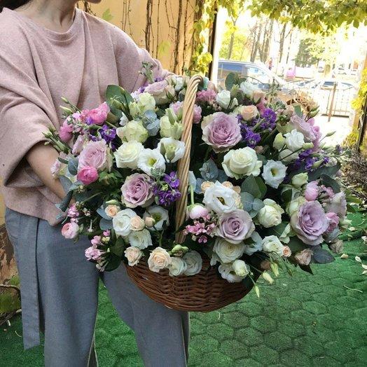 Корзина нежной любви: букеты цветов на заказ Flowwow