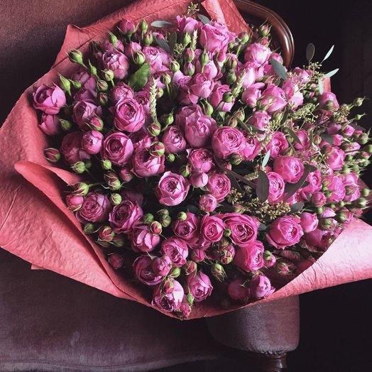 Букет роз сорта Мисти Бабблз 51 шт