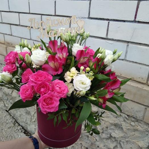 """Шляпная коробка """"Любимой мамочке"""": букеты цветов на заказ Flowwow"""
