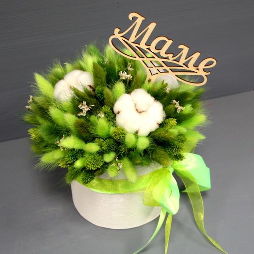Коробочка сухоцветов для любимой мамы