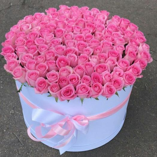 150 роз в коробке: букеты цветов на заказ Flowwow