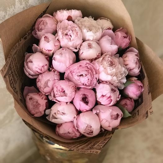 Пионы Сара Бернар Премиум: букеты цветов на заказ Flowwow
