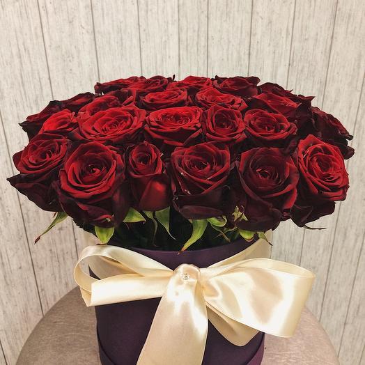 Коробка 25 роз