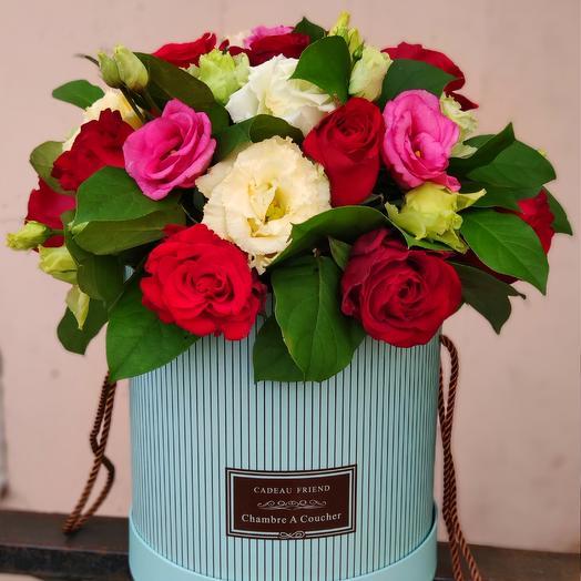 """Цветы в коробке """"Фортуна"""": букеты цветов на заказ Flowwow"""