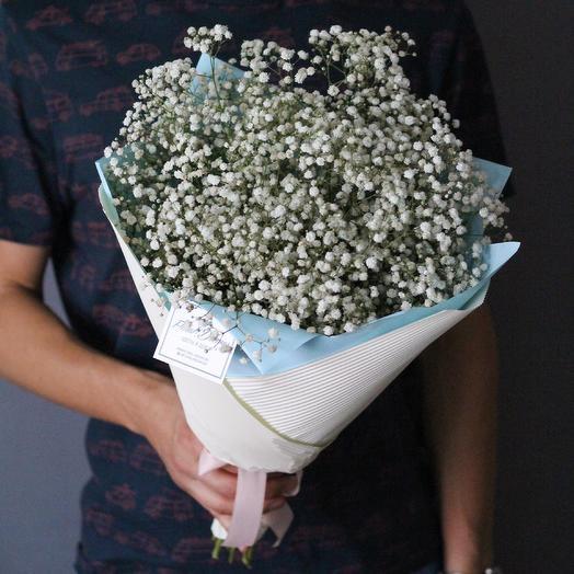 Букет из белой гипсофилы: букеты цветов на заказ Flowwow