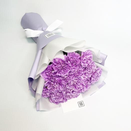 Лиловые Гвоздики: букеты цветов на заказ Flowwow