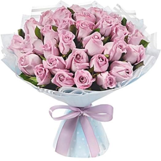 35 Лиловых роз: букеты цветов на заказ Flowwow