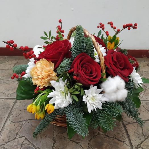 """Цветочное лукошко """"Nice day"""": букеты цветов на заказ Flowwow"""