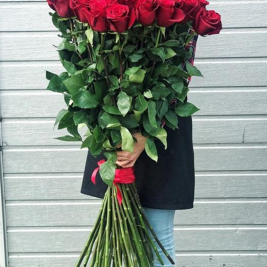 Высокие розы 110 см: букеты цветов на заказ Flowwow