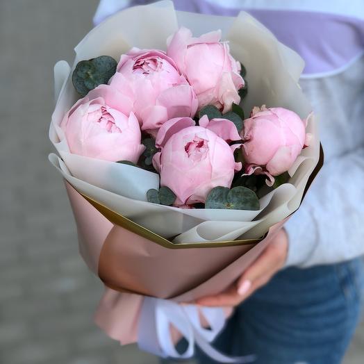 Букет из 5 пион: букеты цветов на заказ Flowwow
