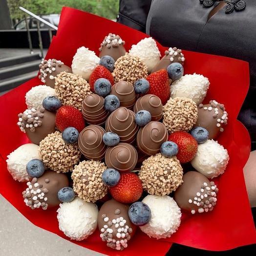 Букет из Клубники в Шоколаде 1