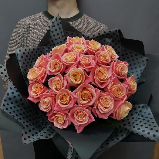 Нежность мамы. Букет из 25 роз