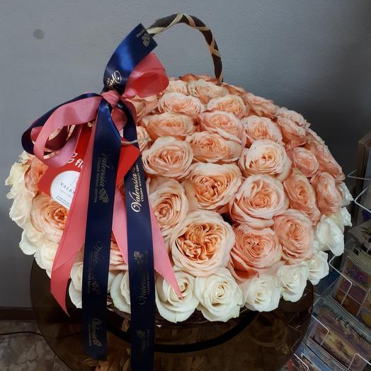 Корзина роз Кахала