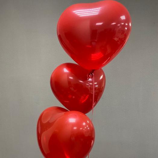 Воздушные сердца с гелием