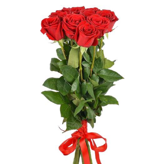 Букет из 7 красных роз 75 см
