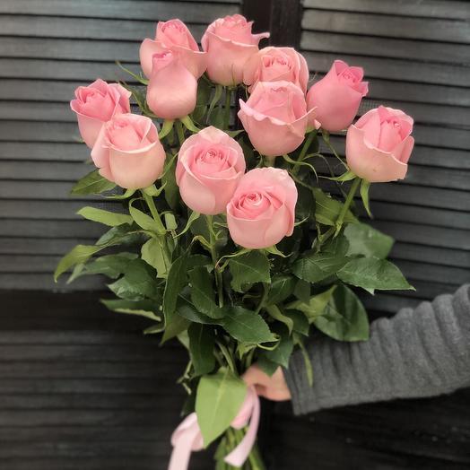 11 эквадорских роз 80 см
