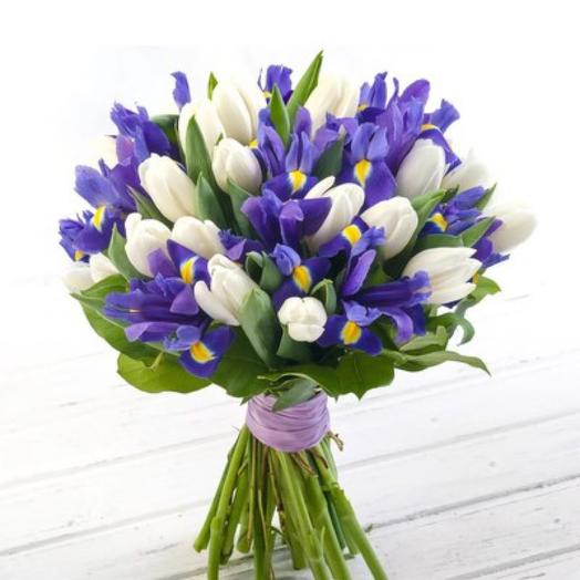 Букет «Ирис+тюльпан»