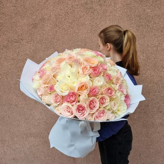 101 роза микс для самой любимой