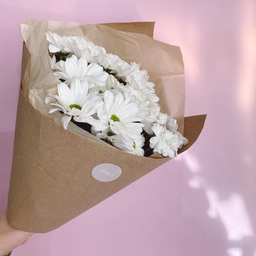 Моно букет из хризантемы