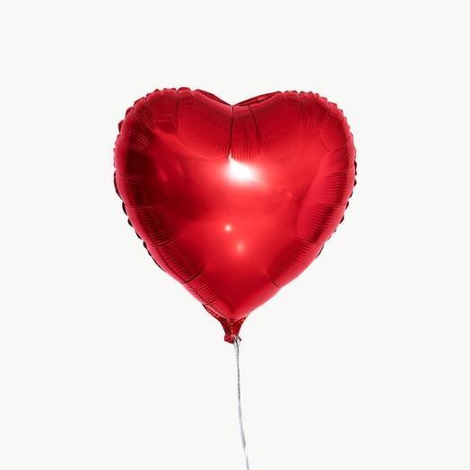 Шар сердце фольга