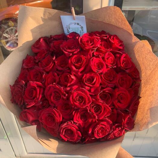 Букет из 51 розы 40см