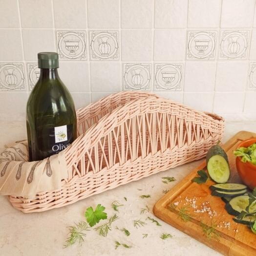 Плетеная корзина органайзер для кухни