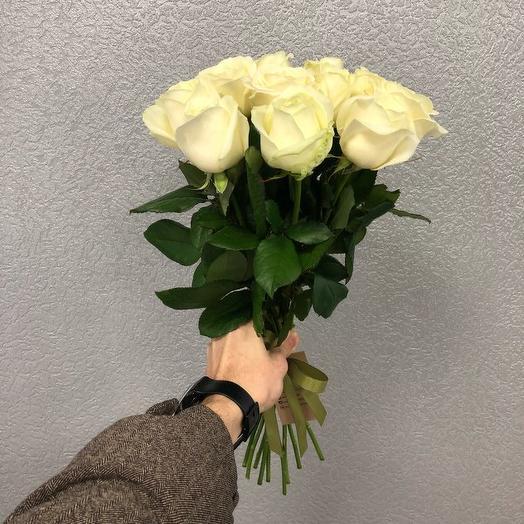 Букет из 11 белых роз 50 см: букеты цветов на заказ Flowwow