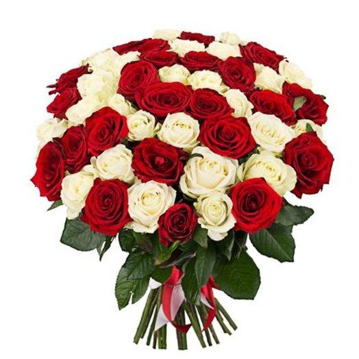 51 роза (50 см): букеты цветов на заказ Flowwow