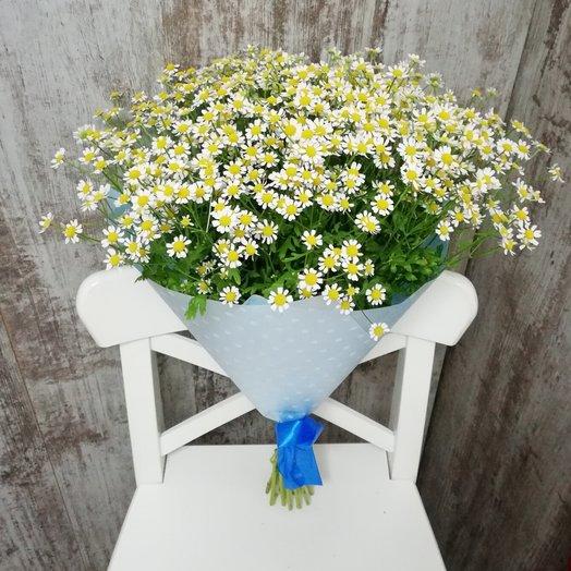 Букет из душистых ромашек: букеты цветов на заказ Flowwow