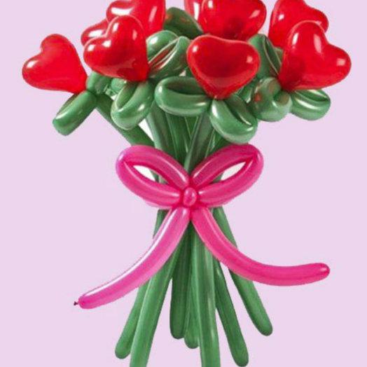 Букет из 9 сердец: букеты цветов на заказ Flowwow