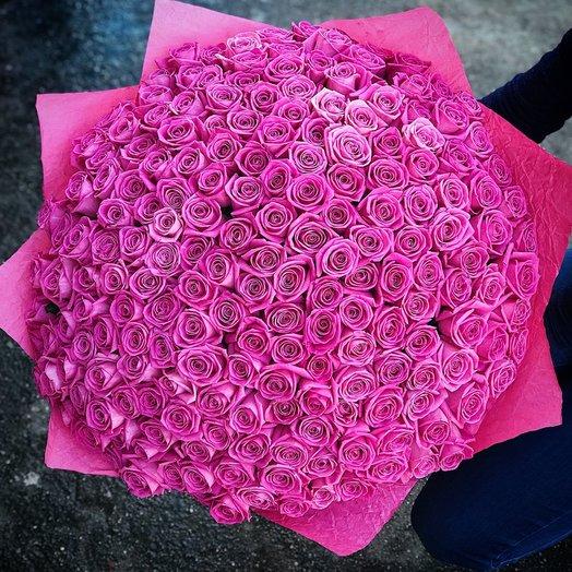 Букет 201 роза Аква: букеты цветов на заказ Flowwow