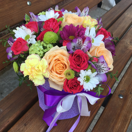 "Cylinder ""Berry mix"": flowers to order Flowwow"