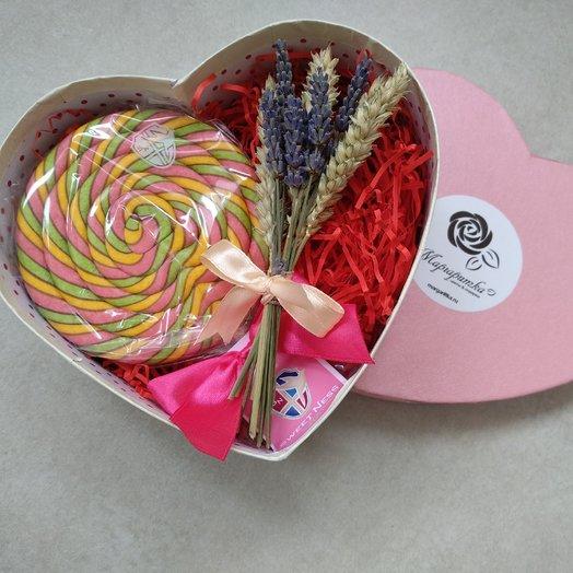 Карамельное сердце: букеты цветов на заказ Flowwow