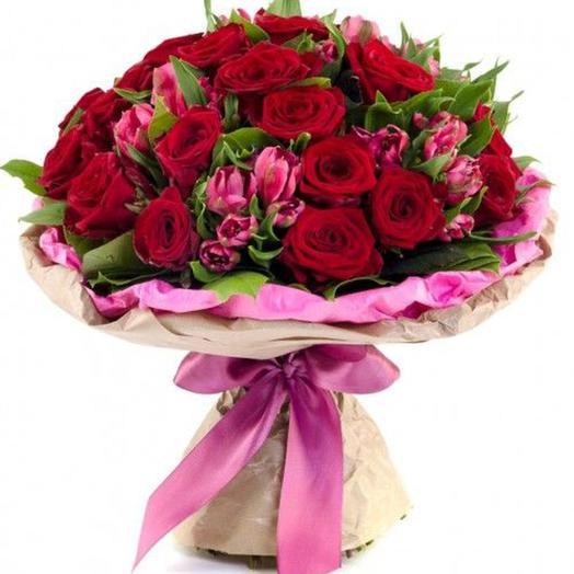 "Букет ""Для любимой"": букеты цветов на заказ Flowwow"
