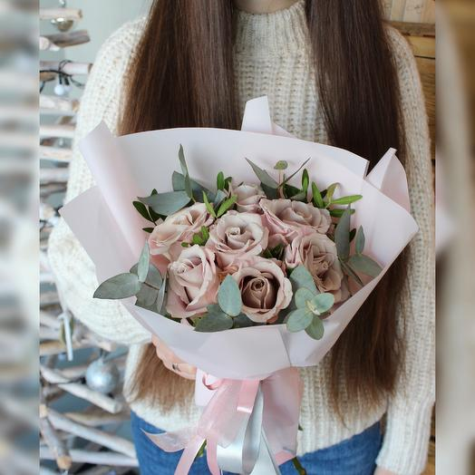 Букетик из роз «Мента»: букеты цветов на заказ Flowwow